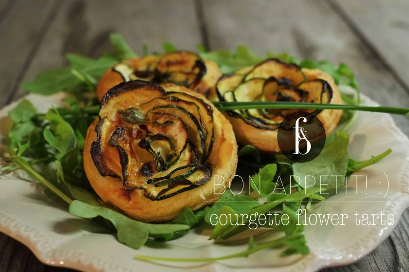 Courgette Flowers Tartlets