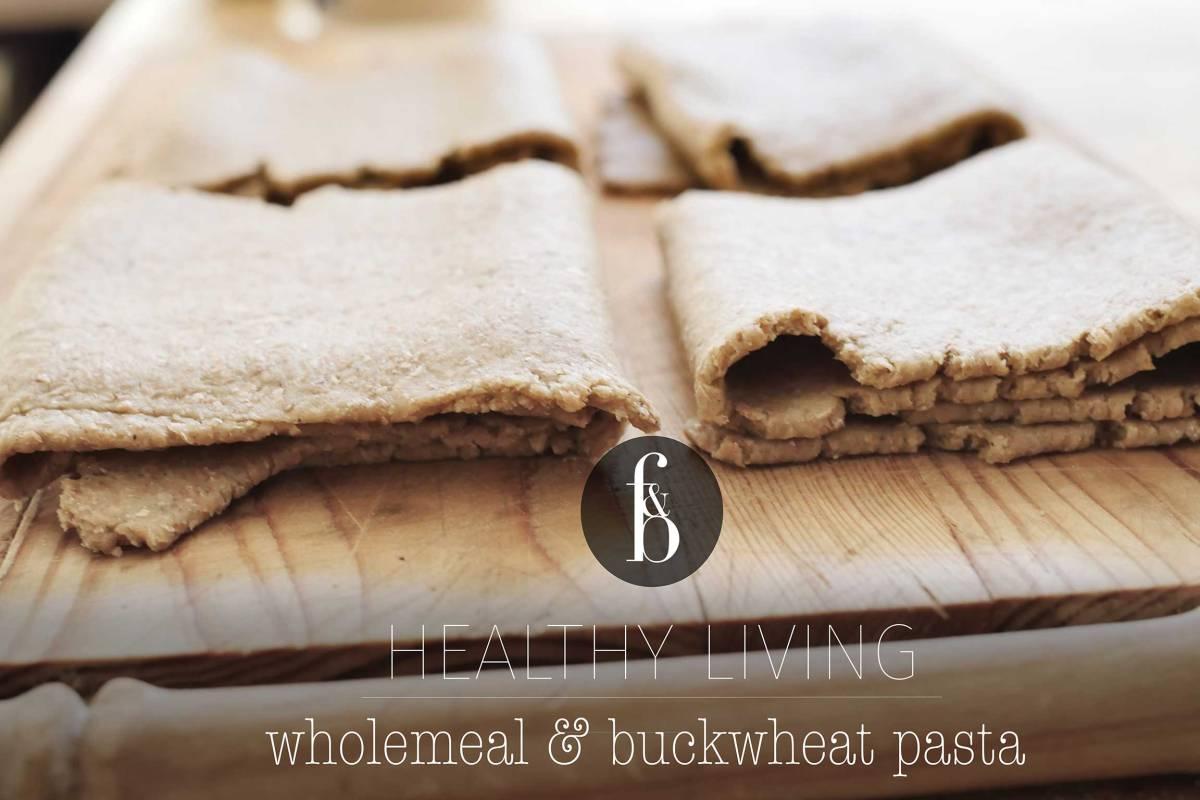 Whole-wheat and buckwheat pasta