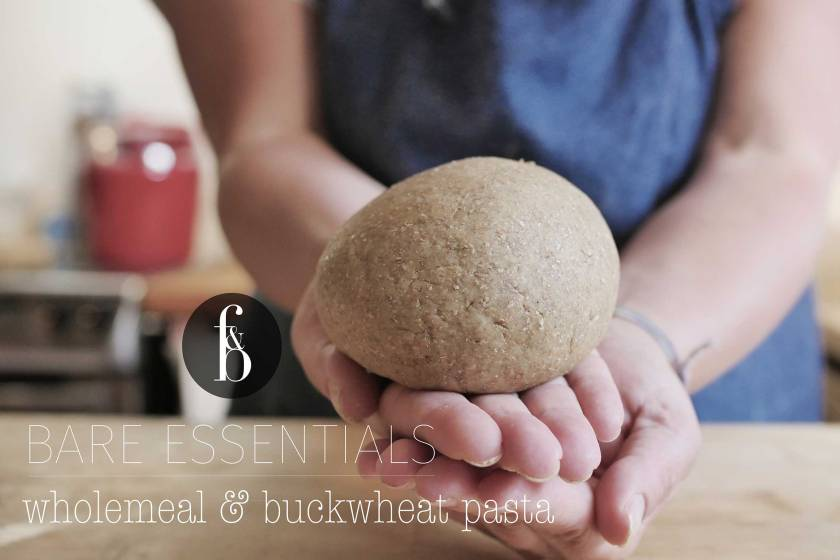 Whole-wheat and buckwheat pasta